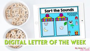 Teaching Letter of the week with digital resources and activities can save you time.