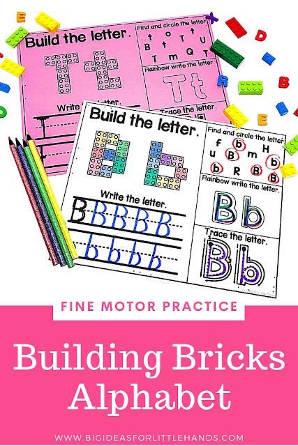 https://www.teacherspayteachers.com/Product/Building-Bricks-Alphabet-Letters-Mat-4837686?utm_source=BIFLH%20Blog&utm_campaign=Alpha%20Fine%20Motor%20Building%20Bricks
