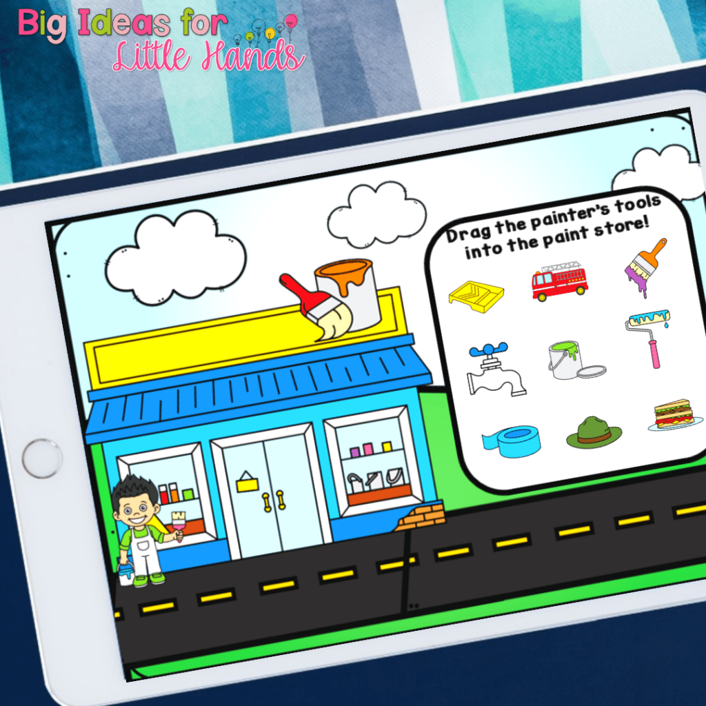 Students will sort the tools and choose the tools that match the community help in this digital activity