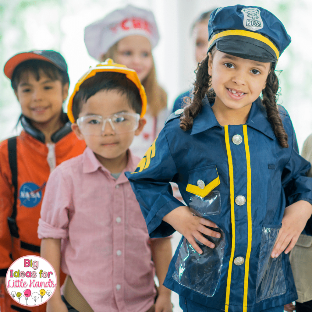 Incorporate dress up opportunities to take learning about community helpers to a new level.